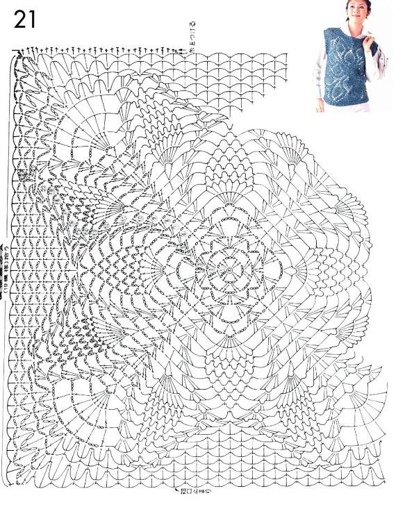 chart - russian site: Blusas Crochet, Crochet Closet, Crochet Embellishments, Crochet Fabric, Crochet Inspiration, Crochet Charts