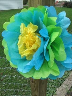 Цветы из папиросной бумаги (тишью) - Цветы из бумаги - Украшаем квартиру к празднику - Каталог статей - Устроим праздник. Праздн