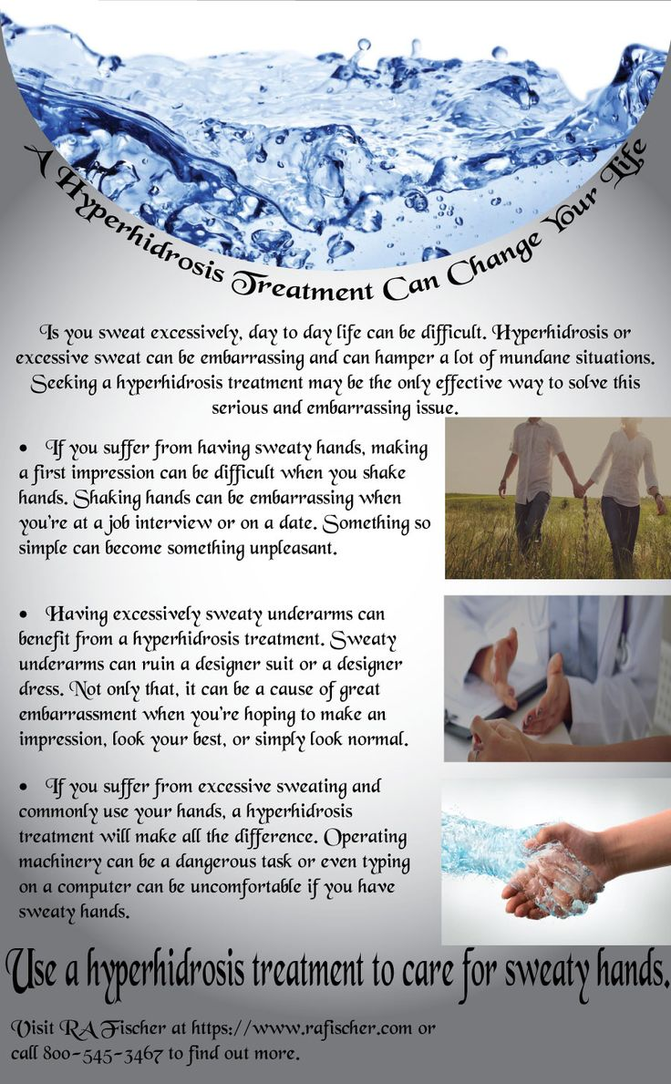 Use a hyperhidrosis treatment to care for sweaty hands. Source: https://www.rafischer.com/, Information shared above is the personal opinion of the author and not affiliated with the website.