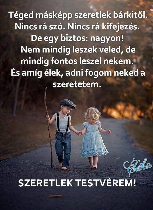 szeretlek testvérem idézetek Pin by Tamara Szilvási on Bőlcseségek,idézetek. | Quotations