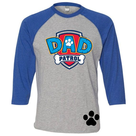 Custom PAW PATROL Dad birthday shirt Dad Patrol by ShirtTraveler