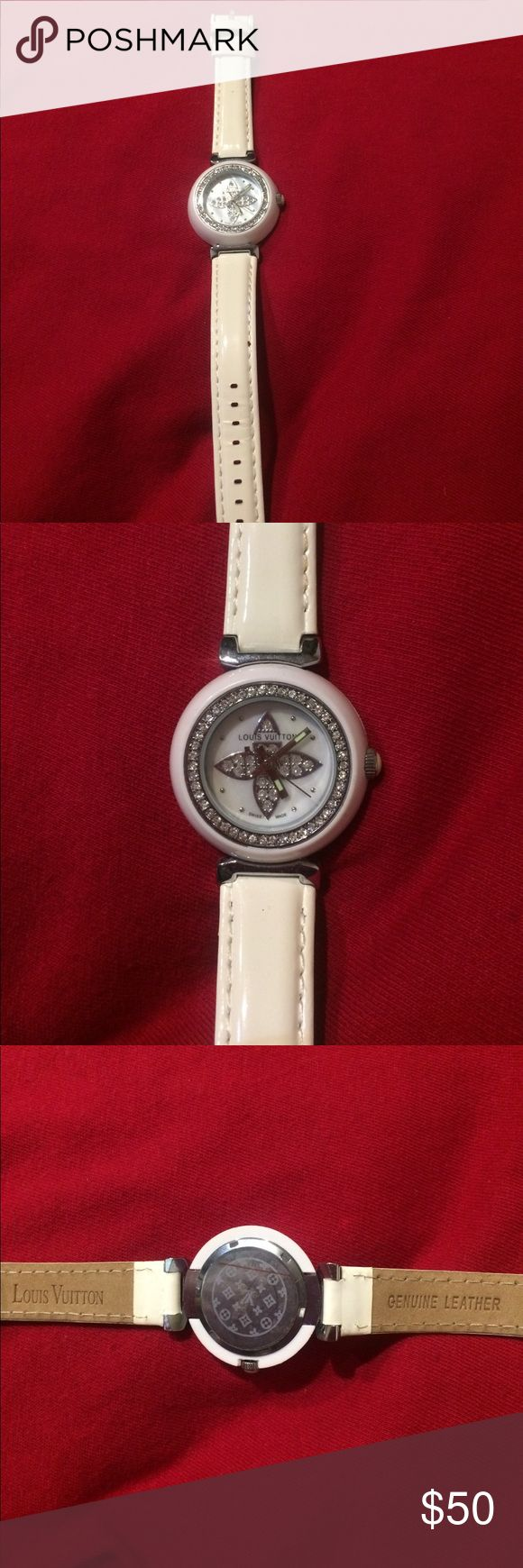 Louis Vuitton watch LV white watch Jewelry