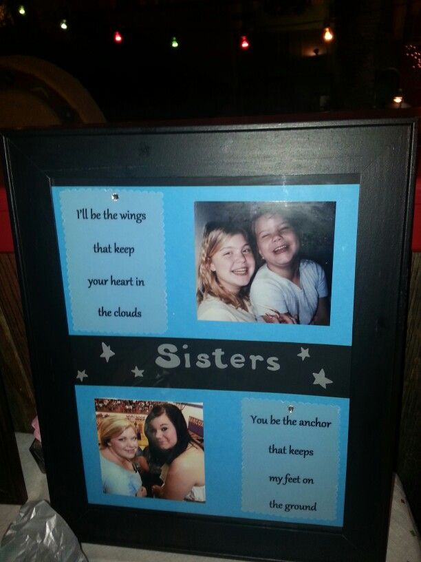 Sisters graduation present
