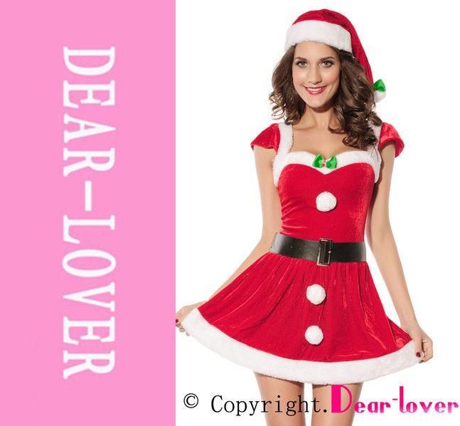 Дорогой - любовник новый взрослый рождественские деды морозы клаус палубы залы костюм LC7170 карнавальные сексуальные костюмы зимние платья