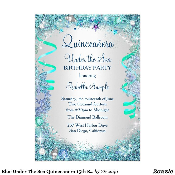 Blue Under The Sea Quinceanera 15th Birthday Party
