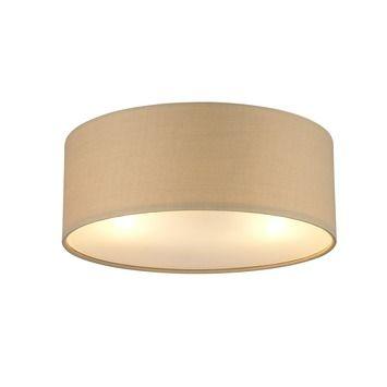 Idee lamp voor hal/gang (2 stuks nodig) en slaapkamer. Plafondlamp Fenna E27 40W Taupe Gamma, tijdelijk verkrijgbaar voor 37,95