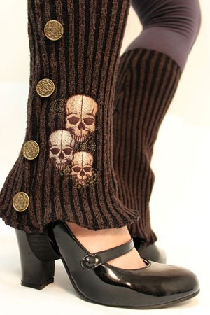 Spats refashioned from a sweater - Desire for new clothes + living in poverty x never sewn before = why not? - Click image to find more DIY & Crafts Pinterest pins
