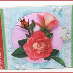Carte fête des méres avec roses