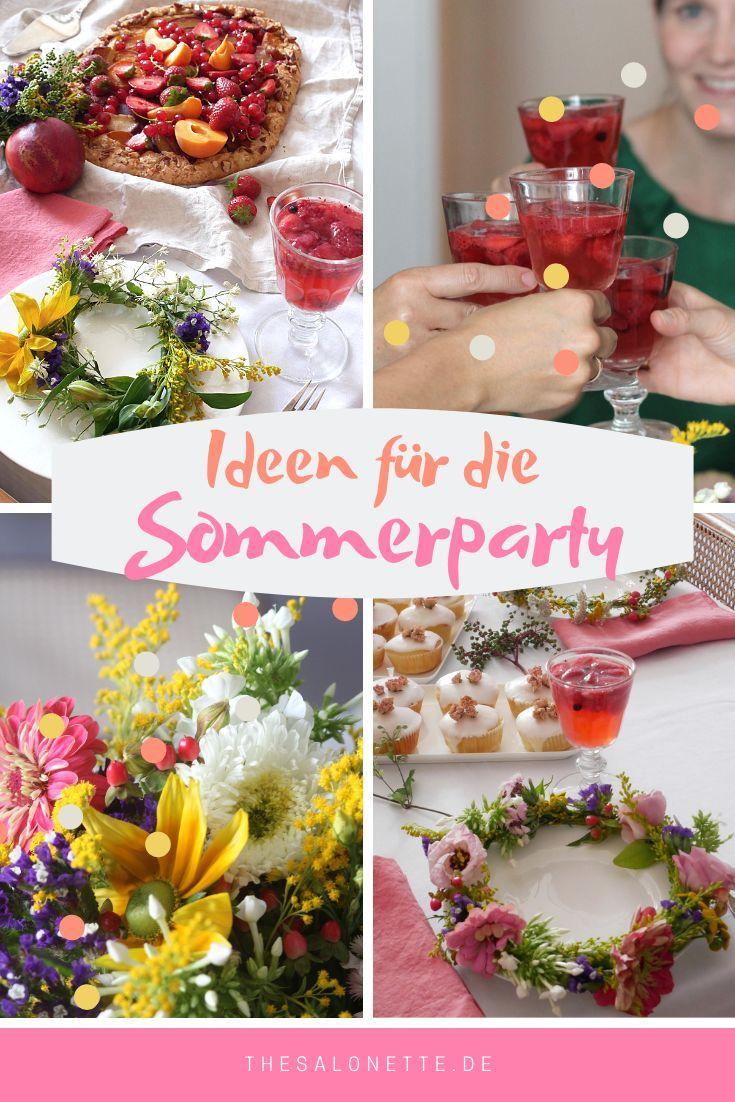 Ideen für die stilvolle Sommerparty - #ideen #sommerparty