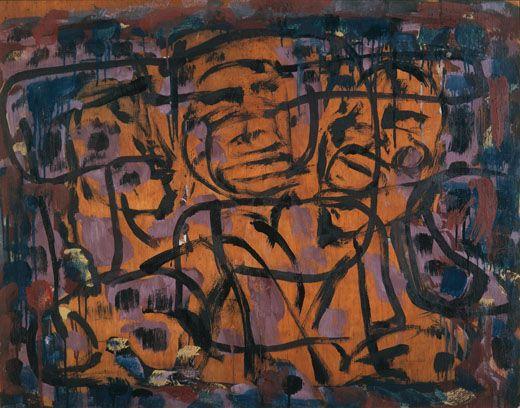 Ian Fairweather 1891–1974. Three Faces. 1965.