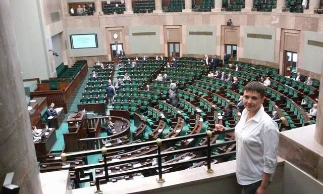 """Савченко в Польше сделала заявление по «Волынской резне». - Savchenko in Poland made a statement on the """"Volyn massacre""""."""