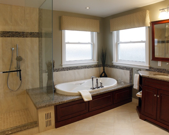Jacuzzi Next To Curbless Shower Glass Enclosed Design, Pictures, Remodel, Decor and Ideas - page 8