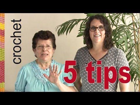 5 tips para mejor acabado en tejido a crochet de Esperanza y Ana Celia de Tejiendo Perú! - YouTube