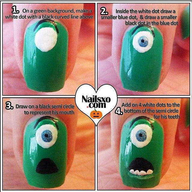 Mike Wazowsky! Creds: nailsxo.com COTD: checkout my nail contest i extended it!! #nails #nail #nailtutorial #nailtutorials #tutorial #tutorials #diy #diynails #pretty #prettynails #girly #girlynails #justgirlythings #design #designs #naildesign #naildesigns #mikewazowsky #monstersincnails #monstersinc #lovenails #followme #loveyouguys #contest #nailcontest by inailtutorials