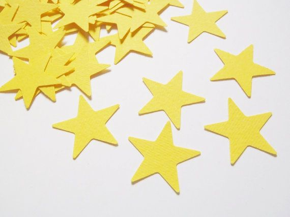 yellow stars confetti party favor party supply by LaSoffittaDiSte