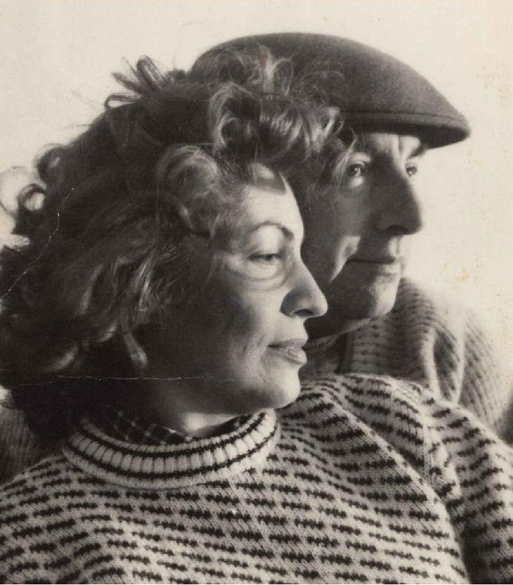 The poet, Pablo Neruda, and his wife, Matilda Urrutia.