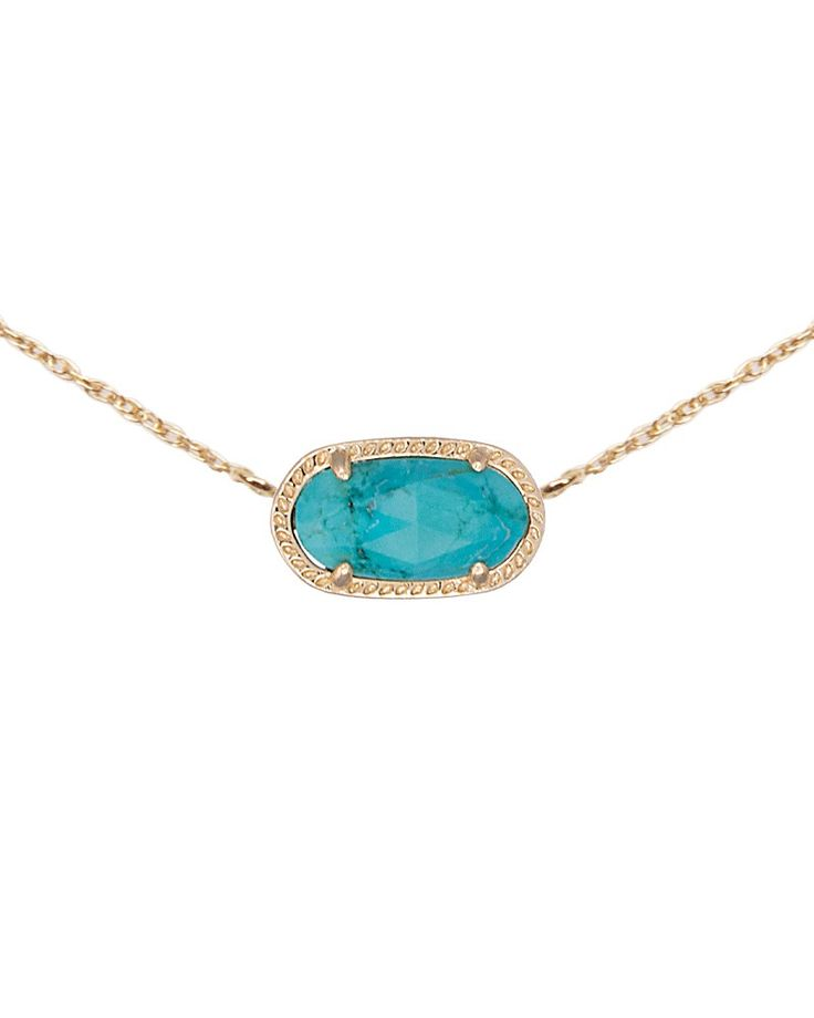 Elisa Pendant Necklace in Turquoise - Kendra Scott Jewelry. Available January 22, 2014.