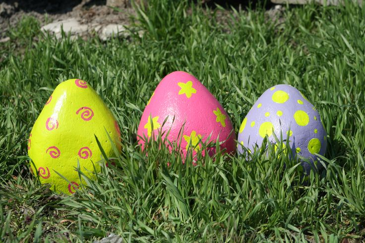 Húsvéti dekoráció ytong téglából .