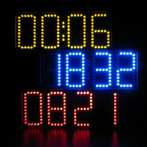 Большой Экран удаленного часы электронные DIY Kit Алюминий крышкой и акриловые Щит 3 вида цветов удаленного могут продавать исключительно купить на AliExpress