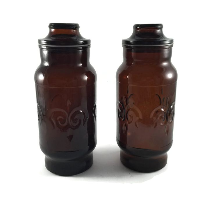 Kitchen Decor, Kitchen Canisters, Glass Storage Containers, Glass Food Storage Containers, Glass Canisters, Apothecary Jar, Tea Coffee Jar - pinned by pin4etsy.com