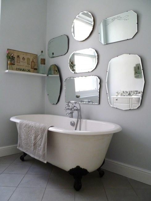 frameless mirror wall display