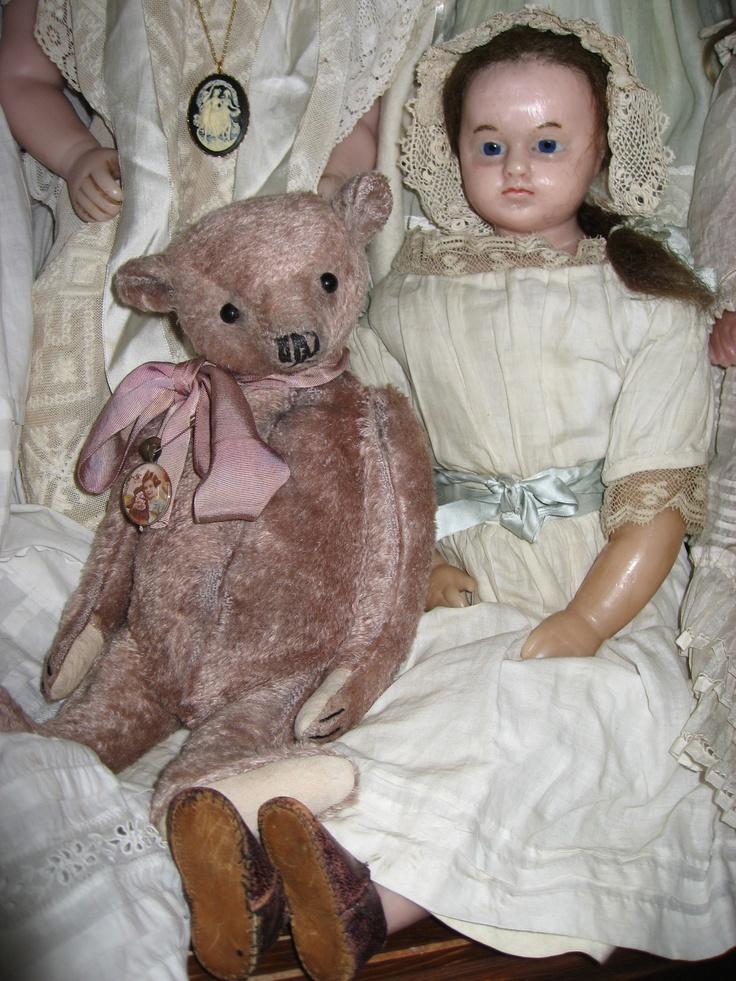 antique wax doll  *1880  Charles Marsh  54cm  Kompletter Originalzustand  Sammlung: Lommel