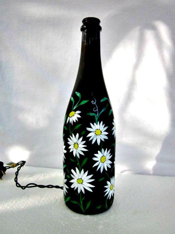 Wine+Bottle+Light++Night+Light++Recycled+Black+by+GlassGaloreGal