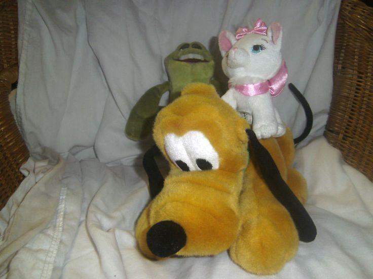 Disney Store - Disneyland - Pluto - Aristocats Marie Kitten & Princess & Frog