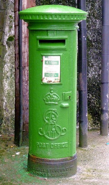 Post office ทรงตู้ไปรษณีย์ close up   Postbox in Ennis, Ireland ~~ by michaelgslattery, via Flickr