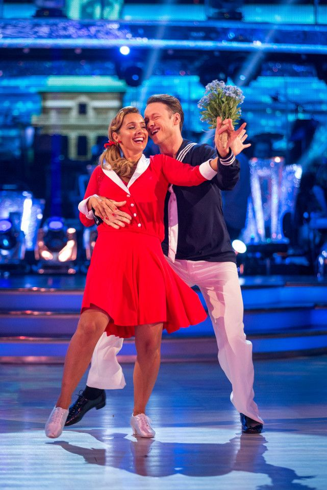 Louise Redknapp came second on the leaderboard with an energetic jive
