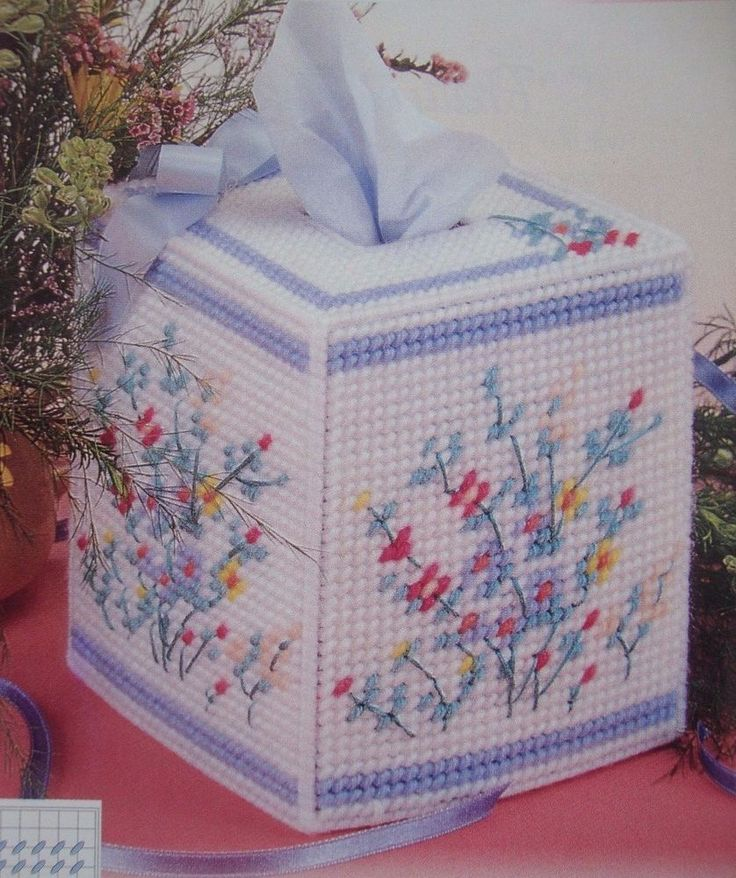 17 best images about crafts on pinterest plastic canvas for Tissue box cover craft