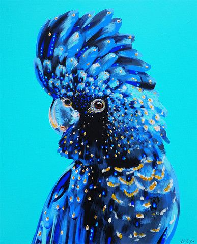 'Something To Defend. Bird painting. Anya Brock