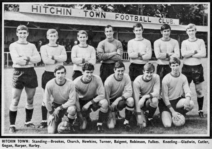 Hitchin Town team group in 1970.