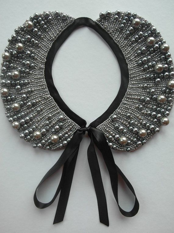 Handmade pearl collar necklace vintage style by ilvakampare, €36.00