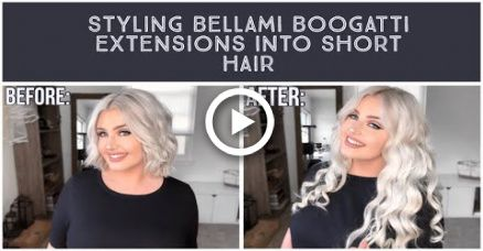 How to Style & Blend Bellami Boo-Gatti Extensions with Short Hair   Blaize McKennah