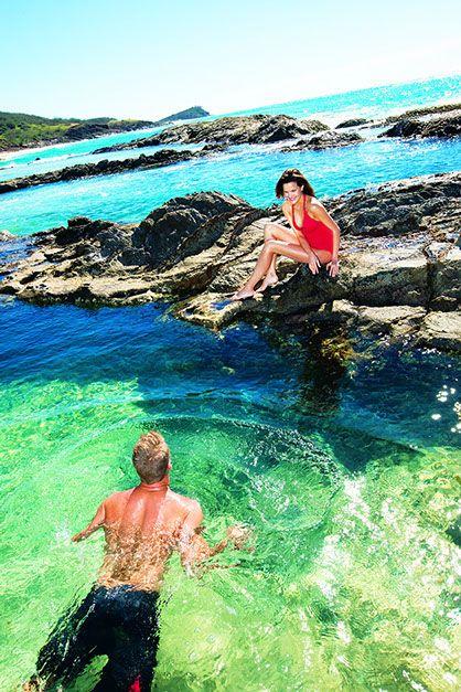 Champagne Pools Fraser Islands australia