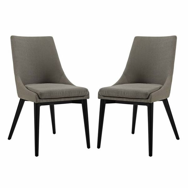 Viscount 2 Granite Fabric Upholstered Dining Chairs by Modway