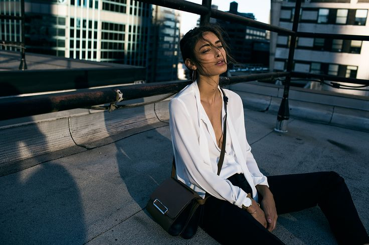 NYC rooftop editorial with Zanita Studio and our Hidden Gem Clean cuff in 18K gold