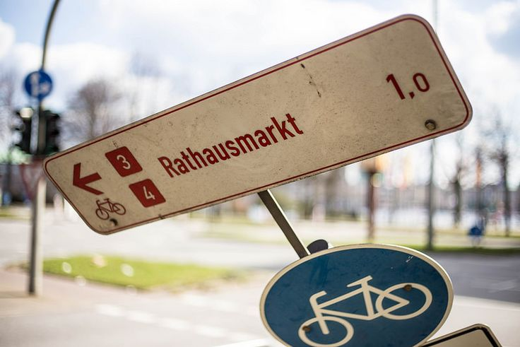 Fahrradroute Rathausmarkt