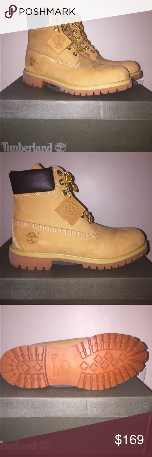 Make an offer! Wheat Timberland Boots Size 9 men's Brand new, never worn wheat colored Timberland Boots. Size 9 Men's. Only taken out of the box once to take pictures. 100% Waterproof. Great boots for work/wintertime. Will last a very long time! Shoes Boots