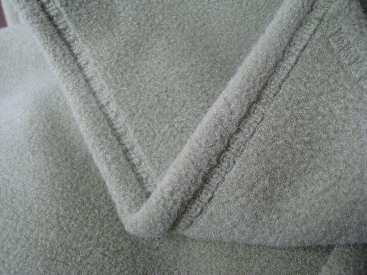 nice finish to fleece edge using one of the built-in stitches on your sewing machine
