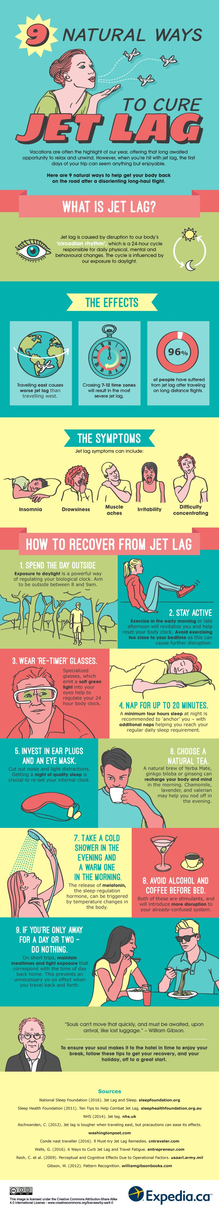 Nine natural ways to cure jet lag