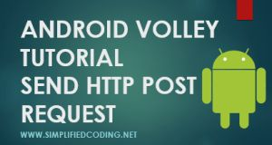 android volley post request