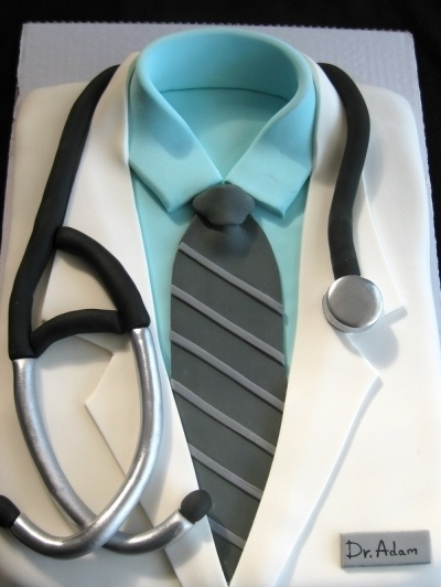 Cute groom's cake or med grad cake