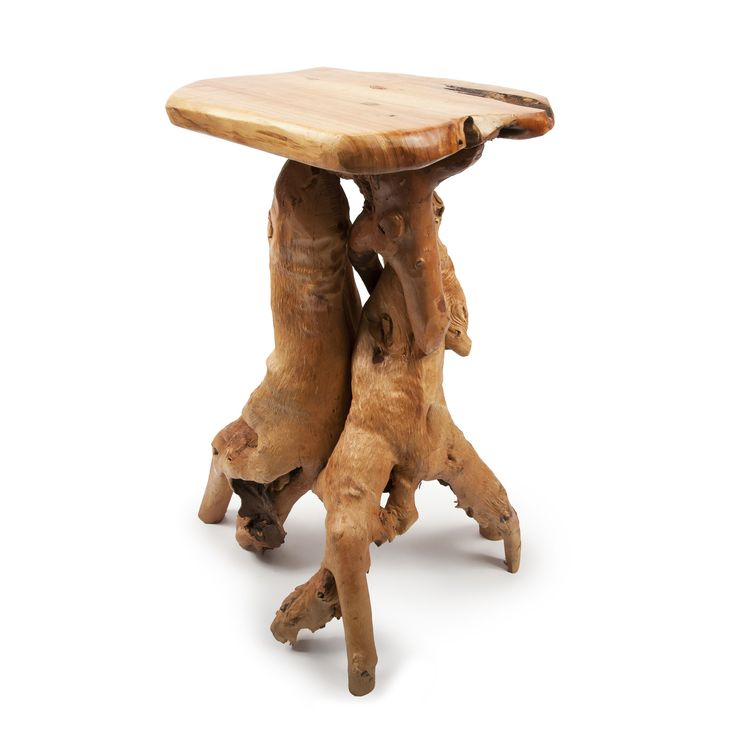 Root Wood Rustic End Table