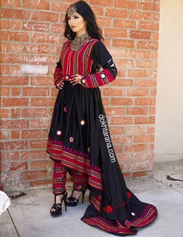 #afghan dress #black  #national dress                                                                                                                                                     More