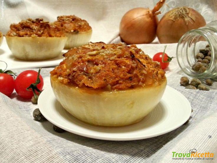 Cipolle al forno con ragout di tofu – veggie style  #ricette #food #recipes