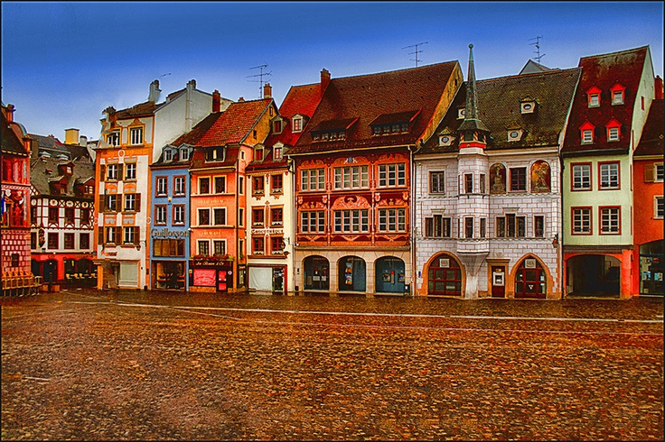 Mulhouse, Alsace, France. Almost too adorable for words. :)