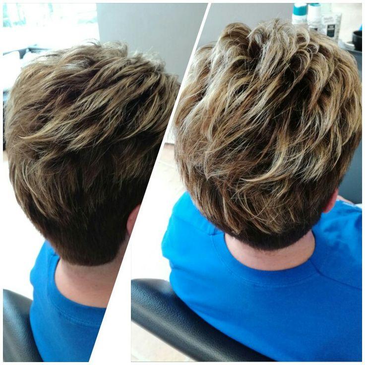 #braun #higlights #shorthair #haircolor #haircut #kcprofessional #goldwell