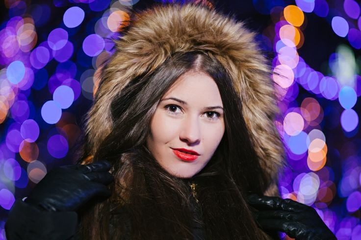 christmass portrait, winter portrait